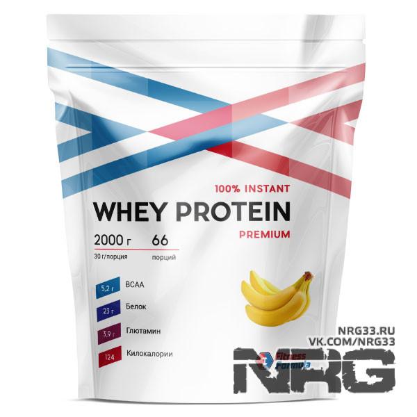 Купить FITNESS FORMULA 100% Whey Protein Premium, 2 кг, 14259