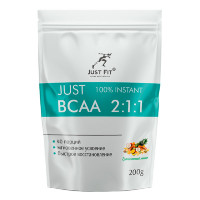 JUST FIT 100% Instant BCAA 2:1:1, 200 г