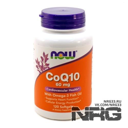 NOW Co Q-10 with Omega-3 Fish Oil, 120 кап