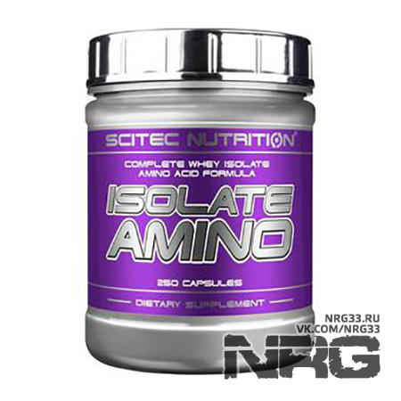 Купить SCITEC Isolate Amino, 250 кап, 613
