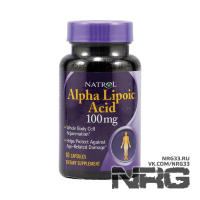 NATROL Alpha Lipoic Acid 100 mg, 60 кап