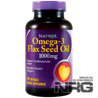 NATROL Omega-3 Flaxseed Oil 1000 mg, 120 кап